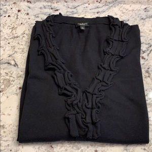 Talbots Ruffle Edge Cardigan Sweater Size XL EUC